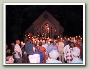 procession à Chertsey pour Neuvaine de Marie Reine des Coeurs